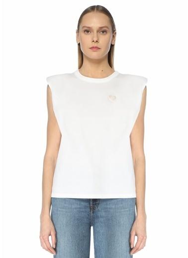 Sandro Sandro  Bisiklet Yaka Kolsuz T-shirt 101627346 Beyaz